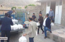 توزیع ۶۰۰ پرس غذای گرم بین مددجویان و نیازمندان روستای عباس آباد