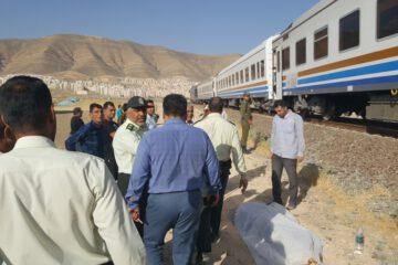 مرگ چوپان بر اثر برخورد با قطار شیراز به تهران