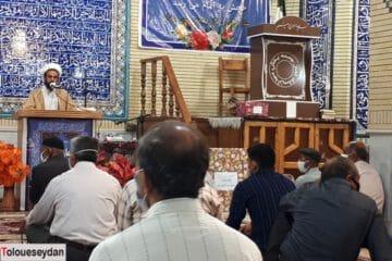 آیین تکریم امام جمعه بخش سیدان برگزار شد