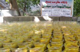 شله زرد نذری در سیدان پخت و توزیع شد
